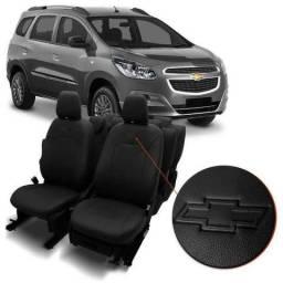 Capa Banco Couro Ecológico Chevrolet Spin 2012 a 2019 Automotiva