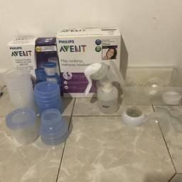 Avent Extrator de leite + Copos para conservar leite no freezer