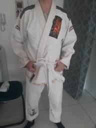 Kimono Jiu Jitsu Shiroi - Trançado - A4 - Branco