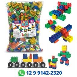 Blocos De Montar Monte Fácil Brinquedo Infantil 1000 Peças