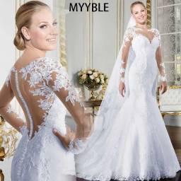 Vendo vestido de noiva modelo sereia