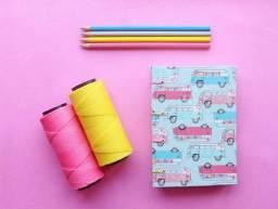 Caderno artesanal Peace and Love