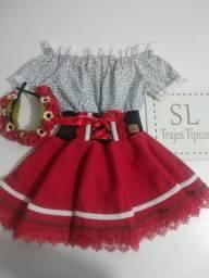 Vestido Frida infantil trajes típicos alemão Oktoberfest