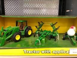 Kit Miniatura Trator John Deere 8530 Com Implementos Original