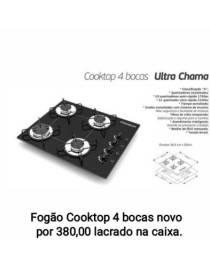Fogão cooktop 4 bocas novo na caixa por 380,00 reais