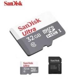 Cartão De Memória Sandisk micro SD 32gb (classe 10) (novo e lacrado)