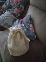 Bolsa saco de crochê