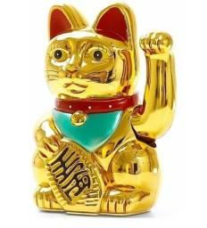 Gato da Sorte Chinês Balança Mão Maneki Neko