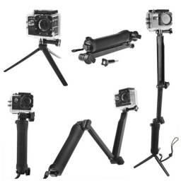 Título do anúncio: Bastão - Pau de Selfie - Tripé 3 Way Shoot compativel com todas GoPro e similares
