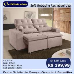 Título do anúncio: Sofá retrátil e reclinável Ubá - cores até 6x sem juros