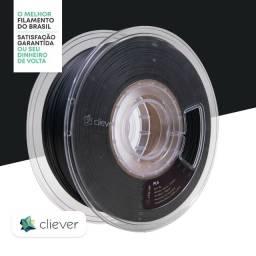 Título do anúncio: Filamento Impressora 3D | PLA | Cliever | 1.75MM | Preto