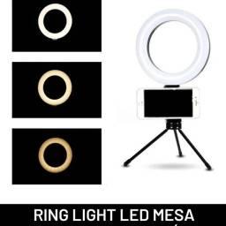 Ring light de mesa nova