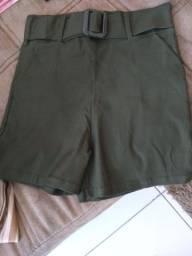 Short novo com lycra veste tamanho 36 e 38