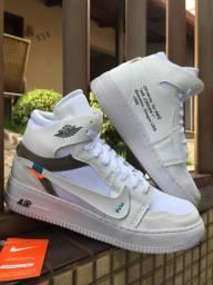 Bota Nike Air Jordan off White