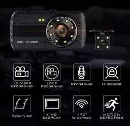 Camera veicular HD gravador, câmera de ré, 170° com sensor de movimento - Nova