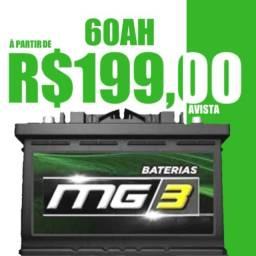 Baterias 60Ah R$199,00 Primeira Linha!