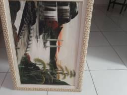 Quadro de pintura em óleo. $120