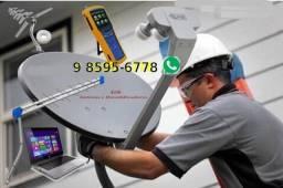 Título do anúncio: Antenista, Instalação Apontamento de Antena Parabólica e Digital