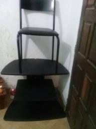 Título do anúncio: Vendo 1 Rack e uma cadeira pra escrivania  40 reais cada