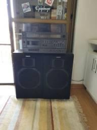 Aparelho de som 3 em 1 Panasonic SS-9090 com caixas de som