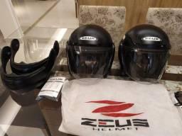 Título do anúncio: vendo 2 capacetes Zeus premium