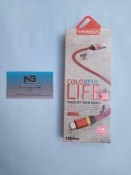Título do anúncio: Cabo de Carregamento Reforçado Micro USB ( Fazemos Entregas )