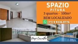 Título do anúncio: Spazio Pituba - Apartamento 3 quartos Pituba, sendo 2 suítes, completo - (R3)