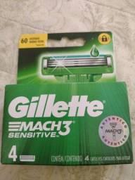 Título do anúncio: Gillette Mach 3 sensitiva c/4