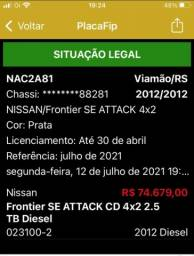 NISSAN Frontier SE ATTACK CD 4x2 2.5