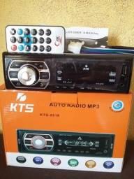 Título do anúncio: Som Automotivo Bluetooth Mp3 Player KTS (novo) !!
