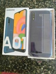 Lindo Samsung Galaxy a01 novo zerado 32 GB completo faço entrega aceito cartão