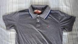 Camisa Polo Cinza Masculina, Manga Curta - Usada 2 meses, mas em Perfeito Estado