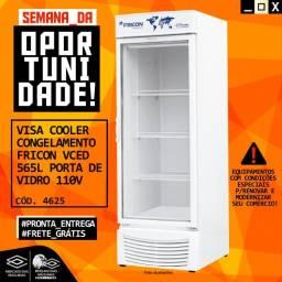 Título do anúncio: Câmara fria Congelamento Fricon Vced-565 C Porta De Vidro 110v Nova Frete Grátis