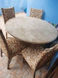 Título do anúncio: Mesa pedra mármore bege Bahia