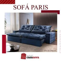 Título do anúncio: Sofá Retrátil e Reclinável Azul 2,50 NOVO!