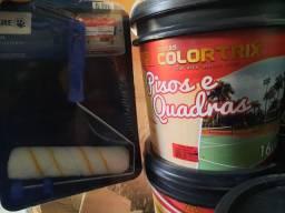 Combo ( 1 balde de tinta piso 16L + 1 kit pintura) na Cuiabá tintas    .. imperdível