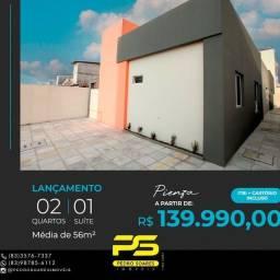 Título do anúncio: Casa com 2 dormitórios à venda, 56 m² por R$ 139.990 - João Paulo II - João Pessoa/PB