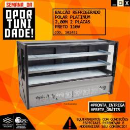 Título do anúncio: Balcão Refrigerado Polar Platinum 1.75m ou 2m Preto Novo Frete Grátis