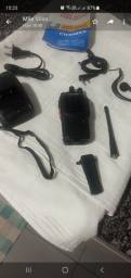 4 rádios comunicador sem uso com fone carregador e antena