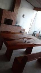 Título do anúncio: Mesa rústica madeira pura