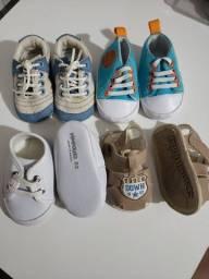 Lote de sapatinhos para recém nascido