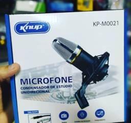 Título do anúncio: Kit Microfone Condensador Knup KP-M0021
