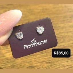 Título do anúncio: Brincos Coração de Cristal Rommanel Folheados à Ouro 18k