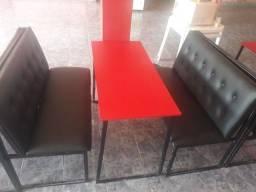 Título do anúncio: mesas bancos de  lanchonte retarante ou bar