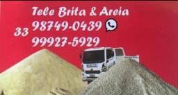 Brita areia e pó de pedra
