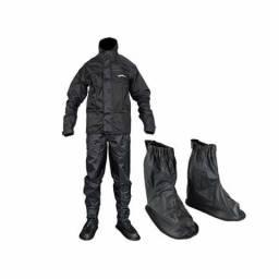 Kit chuva Alba nylon jaqueta + calça + polaina bota galocha - Motoqueiro