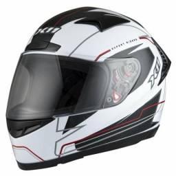 Capacete Moto X11 Volt - Branco e Preto