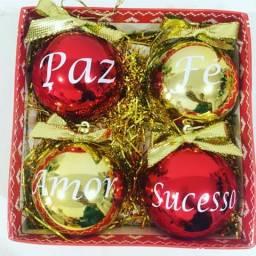 Bola de Natal personalizada com nome