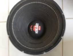 Sub de 15 cone seco 1250w, troco por fiação e rádio Pioneer
