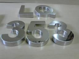 Letras Em Aço Inox Letreiro Caixa Números 3d Fachada letra para loja